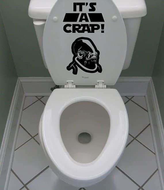 Adesivo de toilete It's a crap Almirante Ackbar