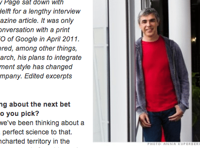 Entrevista com Larry Page, do Google, na Fortune