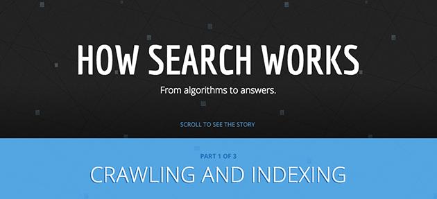Como Funciona a Busca do Google, infográfico interativo (How Search Works - The Story – Inside Search)