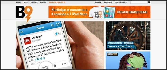 Wordpress 10 anos - 10 sites e blogs bacanas: Brainstorm 9 - B9