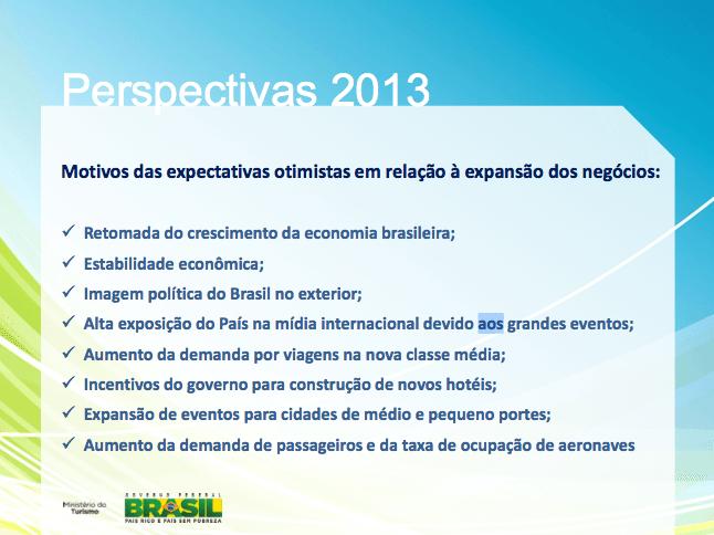 Página do Pesquisa Anual de Conjuntura Econômica do Turismo – 2013