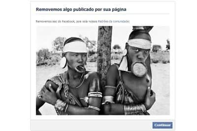 Foto de Sebastião Salgado censurada no Facebook por conter peitos.