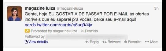 Magazine Luiza trola Mainardi e faz campanha para aumentar mailing
