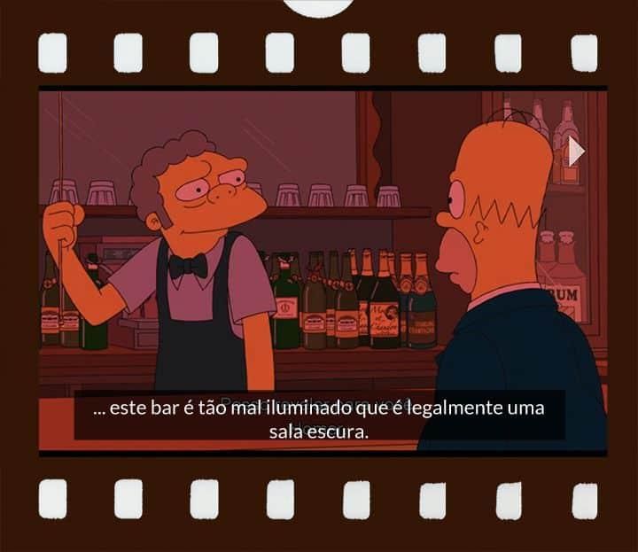 Moe apaga luz do bar