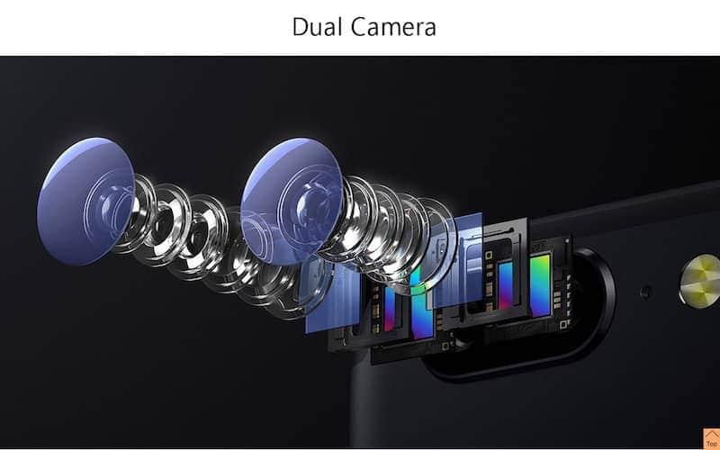 componentes óticos (lentes) da câmera do OnePlus 5
