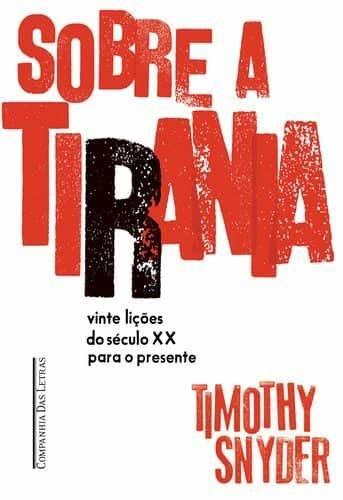Letras de diferentes tamanhos, formando a frase Sobre a Tirania