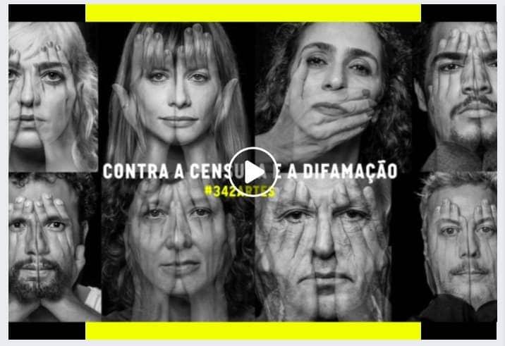Frame do vídeo 342Artes - Contra a censura e a difamação